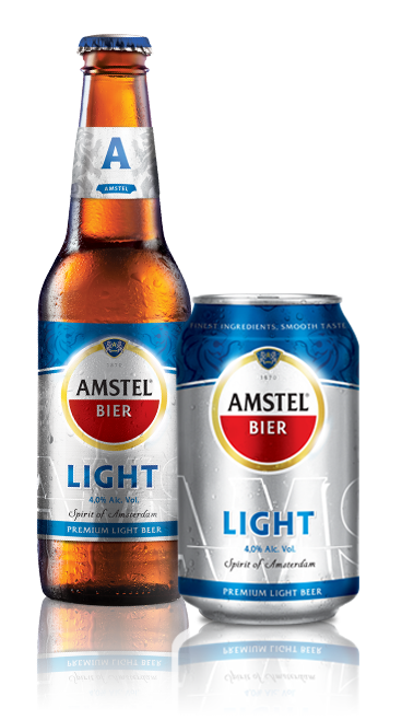 La cerveza Europea Amstel Light